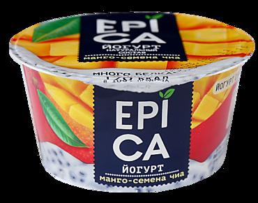 Йогурт 5% «Epica» Манго и семена чиа, 130г