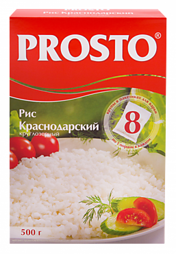 Рис «Prosto» Краснодарский круглый в пакетиках, 500г