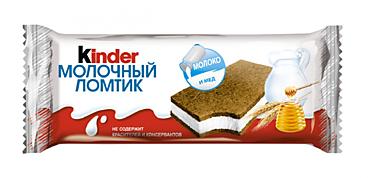 Пирожное 27.9% «Kinder» Молочный ломтик, 28г