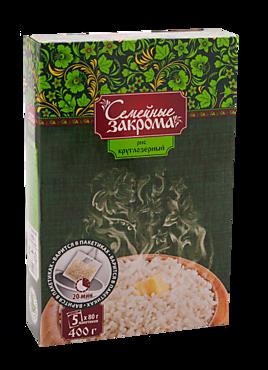 Рис круглозерный в пакетиках «Семейные закрома», 400г