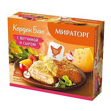 Кордон блю «Мираторг» с ветчиной и сыром, 405г