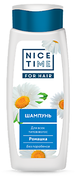 Шампунь «Nice Time» Ромашка для всех типов волос, 400мл