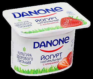 Йогурт 2.9% «Danone» с клубникой, 110г
