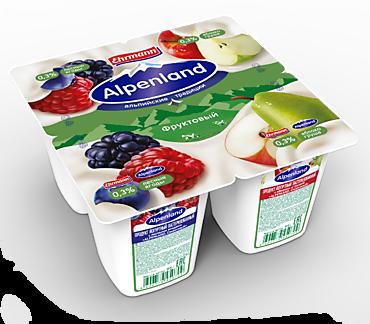 Йогурт 0.3% «Ehrmann» Alpenland Яблоко-груша/лесные ягоды, 95г