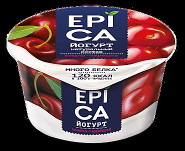 Йогурт 4.8% «Epica» вишня-черешня, 130г