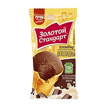 Мороженое пломбир шоколадный «Золотой стандарт», 86г