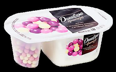 Йогурт 6.9% «Даниссимо Фантазия» с хрустящими шариками с ягодным вкусом, 105г