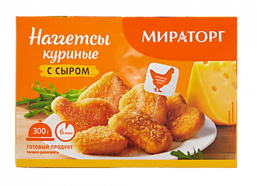 Наггетсы «Мираторг» куриные с сыром, 300г