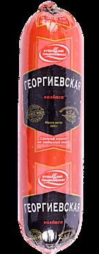 Колбаса варено-копченая «Кузбасский пищекомбинат» Георгиевская, 380г