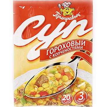 Суп «Приправыч» Гороховый с копченостями, 60г