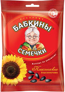 Семечки отборные, жареные «Бабкины семечки», 100г