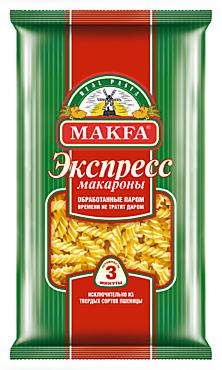 Макароны «Makfa» Спиральки Экспресс, 400г