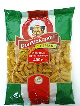 Макароны «ДонМакарон Гурман» спираль, 400г
