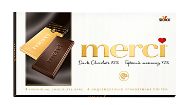 Шоколад «Merci» горький 72%, 100г