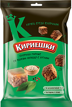 Сухарики «Кириешки» со вкусом холодца с хреном, 100г
