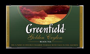 Чай черный «Greenfield» Golden Ceylon, 25 пакетиков, 50г
