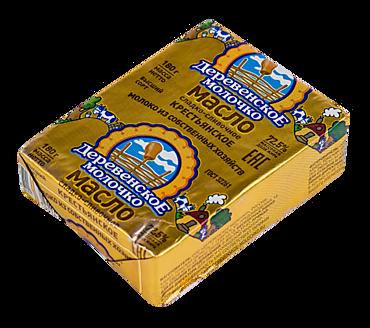 Масло 72.5% «Деревенское молочко» Крестьянское, 180г