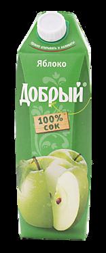 Сок яблочный «Добрый», 1л