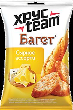 Сухарики «ХрусTeam» Багет сырное ассорти, 60г