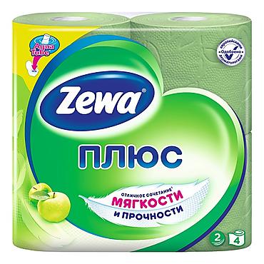 Туалетная бумага двухслойная Яблоко «Zewa» Плюс