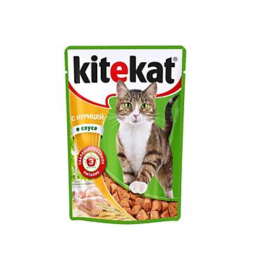 Влажный корм для кошек «Kitekat» Курица в соусе, 85г