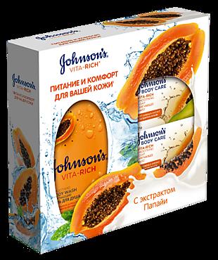 Гель и мыло «Johnson's Vita-Rich» с экстрактом папайи
