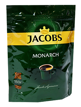 Кофе растворимый сублимированный «Jacobs» Monarh, 150г