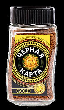 Кофе сублимированный «Черная Карта» Gold, 95г