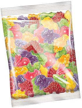 «КрутФрут», мармелад жевательный со вкусом маракуйи, граната, персика, винограда, малины и груши (упаковка 1кг)