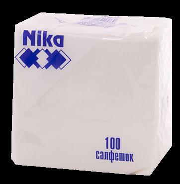 Салфетки «Nika» однослойные белые, 100 шт