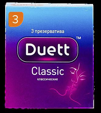 Презервативы «Duett» классические, 3шт