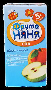 Сок детский «ФрутоНяня» Яблоко и персик, 500мл