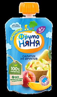 Пюре «ФрутоНяня» Салатик из фруктов, 90г