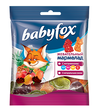 Жевательный мармелад «Babyfox» с витаминами, 30г