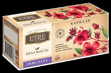 Чайный напиток «Etre» Immunity с каркадэ, 25 пакетиков, 37г