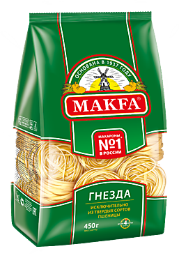 Макароны «Makfa» Гнезда, 450г