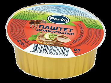 Паштет «Perva» Деликатесный с говяжьей печенью, 95г