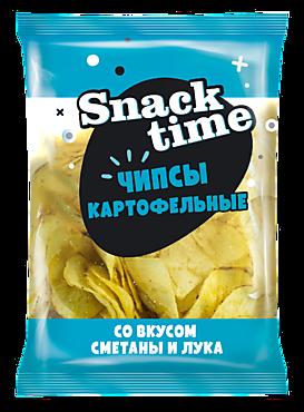 Чипсы «Snack Time» со вкусом сметаны и лука, 150г