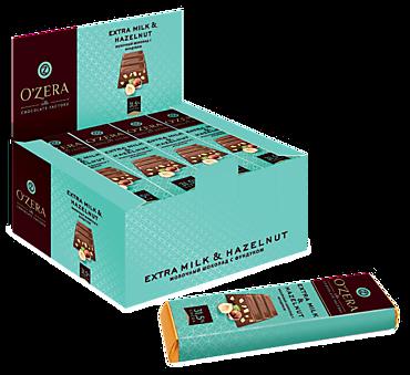 Шоколадный батончик «OZera» Extra milk & Hazelnut, 42г