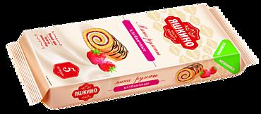 Мини-рулет бисквитный «Яшкино» Клубничный, 175г