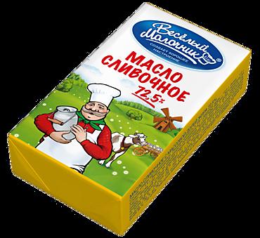 Масло сливочное 72.5% «Веселый молочник», 180г