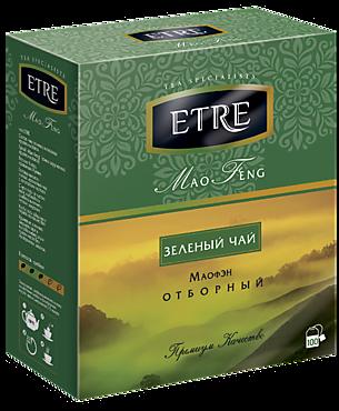 Чай зеленый «Etre» Mao Feng, 100 пакетиков, 200г