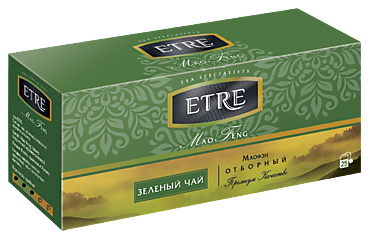 Чай зеленый «Etre» Mao Feng, 25 пакетиков, 50г