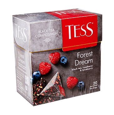 Чай черный «Tess» Forest dream, 20 пакетиков