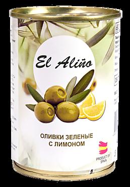 Оливки «EL alino» крупные, с лимоном, 290мл