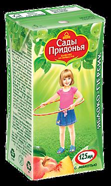 Сок «Сады Придонья» Яблоко-персик с мякотью, 125мл