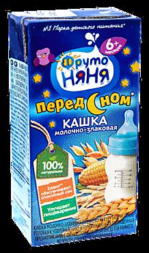 Кашка молочно-злаковая «ФрутоНяня» Кукуруза, рис, гречка, 200мл