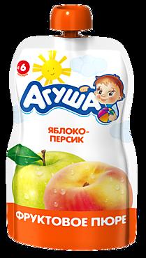Пюре «Агуша» Яблоко-персик, 90г