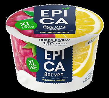 Йогурт 4.8% «Epica» Малина-лимон, 190г