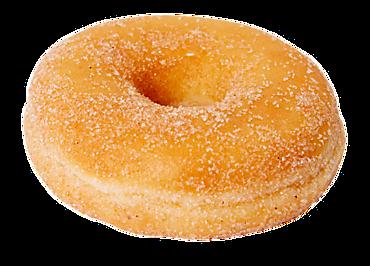 Донат с яблочной начинкой и корицей, покрытый сахаром, 61г